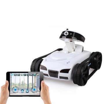 Happy Cow 777-270 Mini WiFi RC Auto met camera Ondersteuning IOS Telefoon Android Real-time Tank Toys